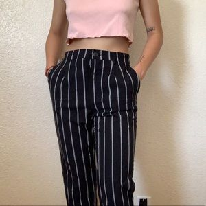 Forever 21 black striped trousers